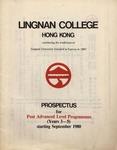 Lingnan College Hong Kong : prospectus for post advanced level programmes (years 3-5) starting September 1980