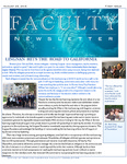 Faculty newsletter (1st issue)