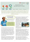 Faculty newsletter (Vol. 3, Iss. 1)