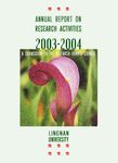 Annual report on research activities 2003-2004