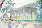 Graybill Hall, watercolour sketch [Lingtaitsuen] by Wai SZTO