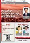 Innovation, entrepreneurship, and start ups