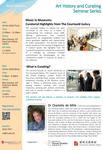 Art History and Curating Seminar Series