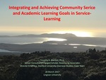 Matching and integrating community service needs with goals for academic learning by Timothy K. STANTON